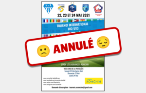 Annulation du tournoi international